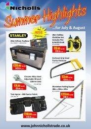 …for July & August - John Nicholls