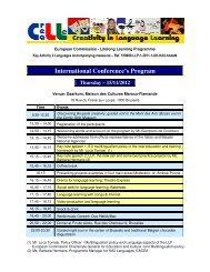 International Conference's Program Thursday – 15/11 ... - Poliglotti 4
