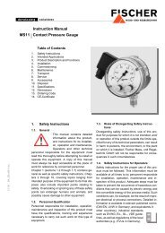 Instruction Manual MS11 Contact Pressure Gauge - FISCHER Mess