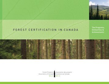 FOREST CERTIFICATION IN CANADA - Forest Products ...
