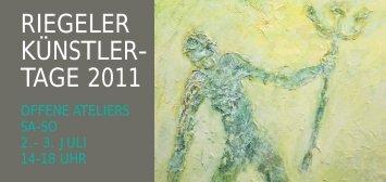 Riegeler Künstlertage 2011 Prospekt - Kunst in Riegel am Kaiserstuhl