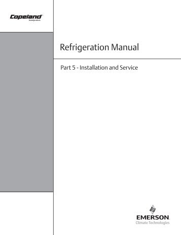 Refrigeration Manual - HVAC and Refrigeration Information Links
