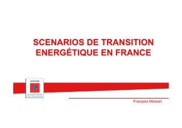 Commentaires à partir des scénarios de transition ADEME et leurs ...