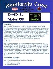 Description D-MO SL motor oils utilize an ... - Neerlandia Co-op