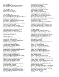 2013 honorees - SUNY Upstate Medical University