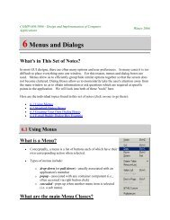 COMP1006/1406 Notes 6 - Menus and Dialogs - Parent Directory