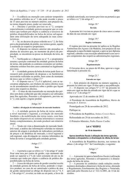 Lei n.º 63/2012 - Diário da República Electrónico
