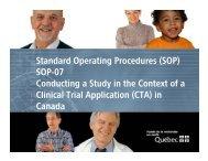 Standard Operating Procedures - SOP-07