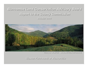 Buncombe Land Conservation Advisory Board - Buncombe County