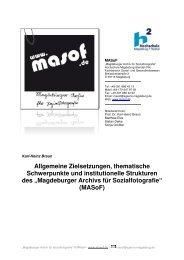 llg. Ziele, themat. Schwerpunkte … MASo - Masof