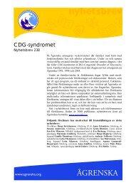 CDG-syndromet - Ågrenska
