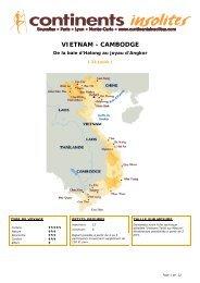 VIETNAM - CAMBODGE - Continents Insolites