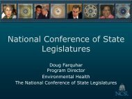 National Conference of State Legislatures - The Environmental ...