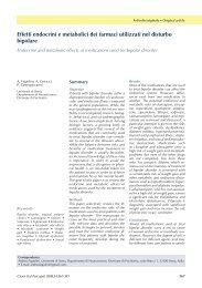 Effetti endocrini e metabolici dei farmaci utilizzati nel disturbo ...