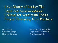 The Legal Aid Manitoba Accommodation Counsel for Youth with