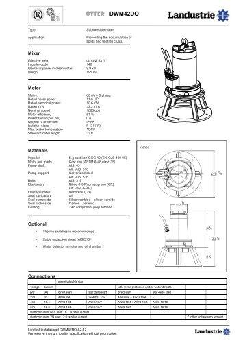 Datasheets DWM42 series 60 c/s - Landustrie