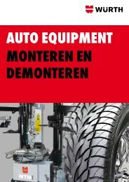 Auto equipment Monteren en demonteren - Würth Nederland