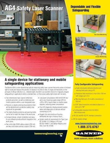 AG4-4E Safety Laser Scanner Promotional Flyer - Elion