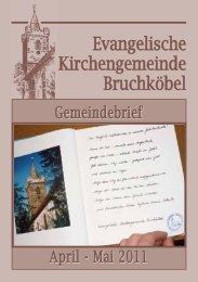 Gemeindebrief April - Mai 2011 - Evangelische Kirche Bruchköbel