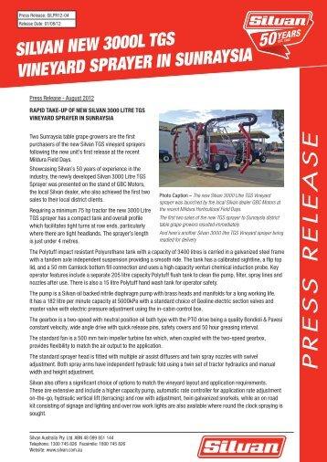 2012-04 3000L TGS Vineyard Sprayer in Sunraysia - Silvan Australia