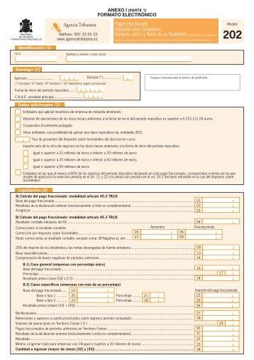 Modelo 202 y anexo - Fiscal impuestos