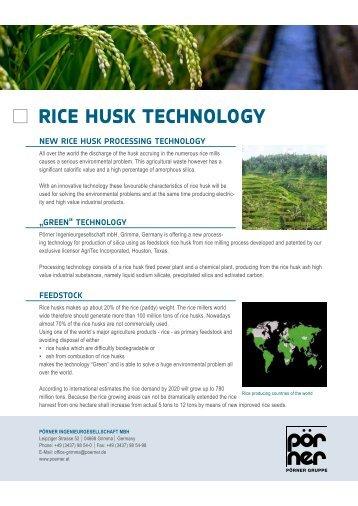 rice husk technology - Pörner Group