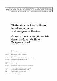Tiefbauten im Raume Basel Nordtangente und ... - SGBF-SSMSR