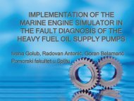 implementation of the marine engine simulator in the fault
