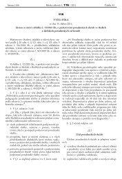 VYHLÁŠKA ze dne 15. dubna 2011, kterou se mění vyhláška č. 72 ...