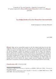 Les hedge funds et la crise financière internationale - Sciences Po Aix