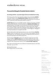 Pressemitteilung der KraskaEckstein Galerie: - Jorinde Voigt