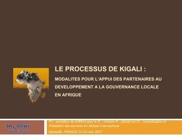 THE KIGALI PROCESS: LOCAL GOVERNANCE ... - Euromedina
