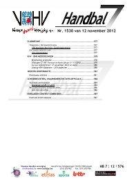 Nr. 1530 van 12 november 12 november 2012 - vhv handbalbase