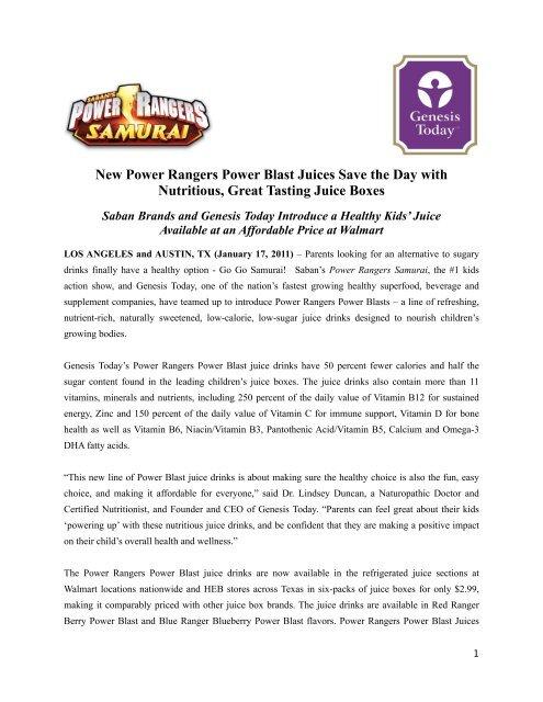 Power Rangers Juice Box 1 13 2012 Final Pages Saban Brands