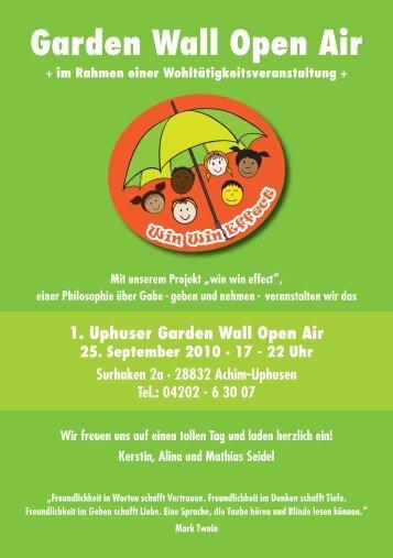 Garden Wall Open Air - Partyservice Artischock