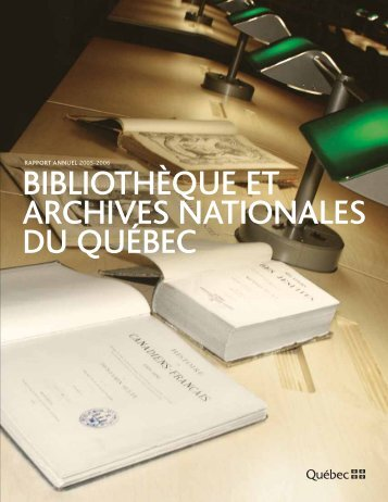 rapport annuel 2005-2006 - Bibliothèque et Archives nationales du ...