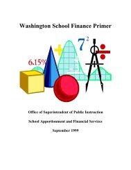 Washington School Finance Primer - Office of Superintendent of ...