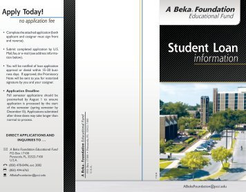 download the application - Pensacola Christian College