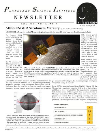 Fall 2011 - Planetary Science Institute