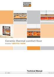 Ceramic thermal comfort floor - Schlüter-BEKOTEC-THERM