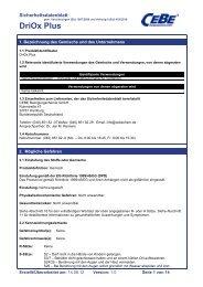 DriOx Plus - CEBE Reinigungschemie GmbH