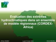Evaluation des extrêmes hydroclimatiques dans un ... - Mistis