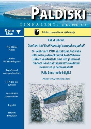 2/103 20.02.2012 - Paldiski Linnavalitsus