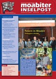 Feiern in Moabit - Quartiersmanagement Moabit West