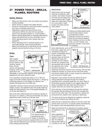 Construction Health & Safety Manual Ch 37: Power Tools – Drills ...
