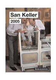 San Keller Werkverzeichnis 2005