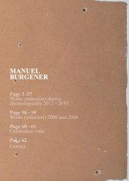 MANUEL BURGENER MANUEL BURGENER