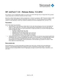 ISY JobTech 7.3.8 – Release Notes, 13.3.2012 - Norconsult