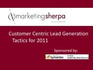 Download the slide presentation - MarketingSherpa