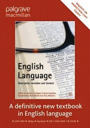 A definitive new textbook in English language - Lancaster University